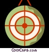 Vector Clipart illustration  of a Targets and Objectives