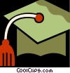 Vector Clipart image  of a Mortar Boards