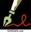 Vector Clip Art image  of a Fountain Pens