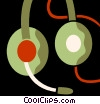 Vector Clipart image  of a Headphones