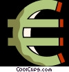 Vector Clip Art graphic  of a euro