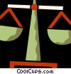Vector Clipart illustration  of a Scales of Justice