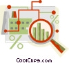Vector Clipart illustration  of a financial concept
