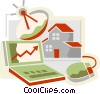 technology concept Vector Clipart picture