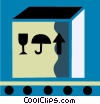 shipment on a conveyor belt Vector Clip Art picture