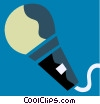 Vector Clip Art graphic  of a Microphones