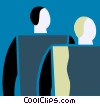Vector Clip Art image  of a People as Symbols
