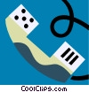 Vector Clip Art picture  of a Handsets and Receivers