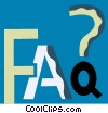 faq Vector Clipart illustration