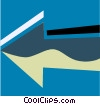 Vector Clip Art image  of an Arrows and Pointers