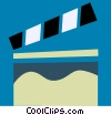 Vector Clip Art picture  of a Clapper Boards