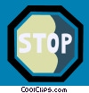 Vector Clip Art graphic  of a Stop Sign