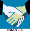 Vector Clipart graphic  of a Shaking Hands