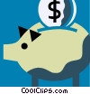 Piggy Banks Vector Clip Art picture