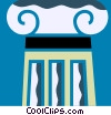 Column or Pedestal Vector Clipart illustration