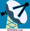 Satellite Dish Vector Clipart picture