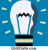 Vector Clipart graphic  of a Idea Light bulbs