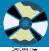 CD-ROM Media Vector Clipart illustration