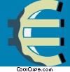 Vector Clip Art image  of a euro