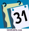 Vector Clipart graphic  of a Calendars