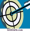 Vector Clip Art graphic  of an Archery