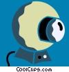 Vector Clip Art graphic  of a Cameras