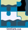 Pieces of a Puzzle Vector Clipart illustration