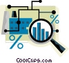 Charting Success Vector Clipart graphic