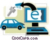 Online Transactions Vector Clipart illustration