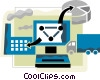 Vector Clip Art graphic  of a Online Concepts