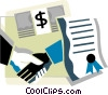 Vector Clip Art image  of a Business Contracts