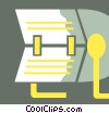 Rolodex Vector Clipart illustration