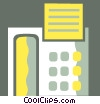Vector Clip Art graphic  of a Office Phones