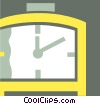 Vector Clip Art graphic  of a Punch Clocks
