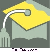 Mortar Boards Vector Clipart graphic