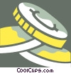 Vector Clipart illustration  of a Coins