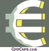 Vector Clipart picture  of a euro