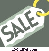 Vector Clip Art graphic  of a Sales and Price Tags