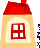 Vector Clip Art image  of a Urban Housing