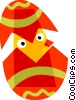 Easter chick hatching Vector Clipart picture