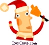 Vector Clip Art image  of a Santa Claus ringing a bell