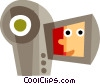 Vector Clip Art image  of a Video Cameras