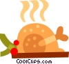 Vector Clipart illustration  of a Christmas dinner