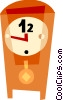 Grandfather Clocks Vector Clipart illustration
