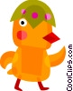 Vector Clipart graphic  of a Easter chick