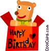 Vector Clipart illustration  of a Birthday Presents Gifts