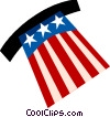 Uncle Sam's hat Vector Clipart graphic