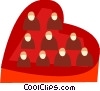 Vector Clip Art picture  of a Valentine Candy
