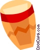 Vector Clipart graphic  of a Bongos