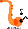 Saxophones Vector Clipart illustration
